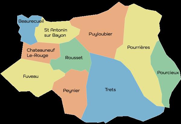 carte des communes du SIHA