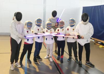 stage escrime enfants laser