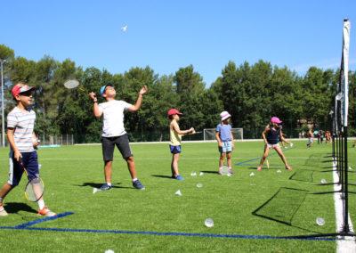 stage enfants vacances activite badminton